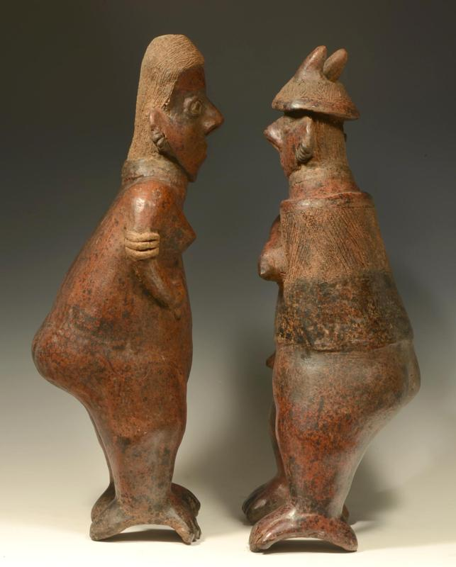 Nayarit Pottery Standing Male & Female Couple