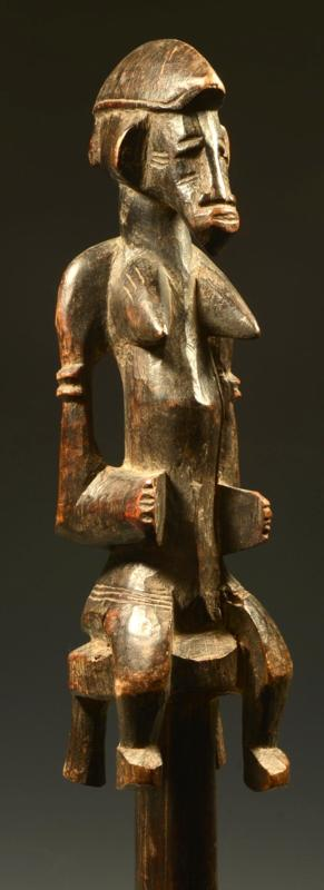 Senufo Wood Staff of Power  daleu
