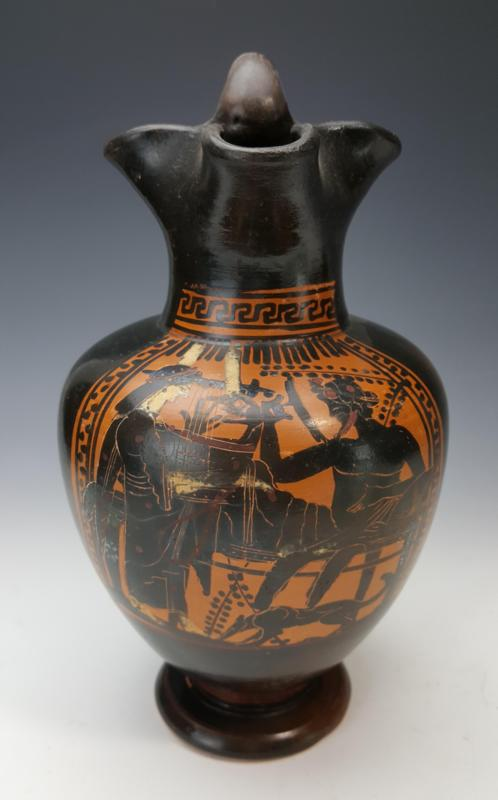Attic Black Figure Oinochoe by the Painter of Vatican G 49 & Attic Black Figure Oinochoe by the Painter of Vatican G 49 ...