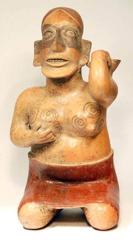 Jalisco Pottery Fine Kneeling Female
