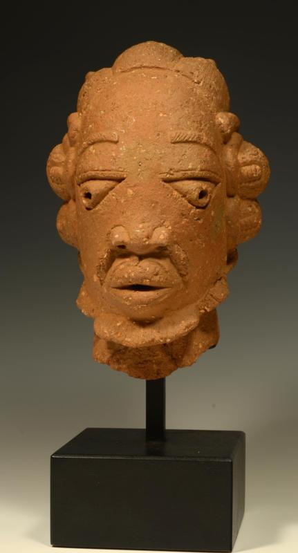 African Nok Terracotta Bearded Male Head