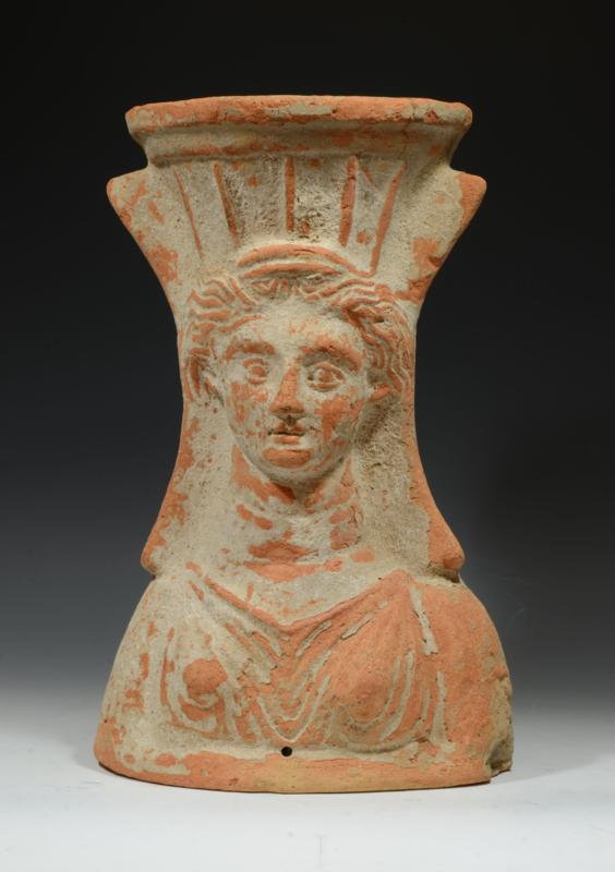Large and Important Greek Pottery Goddess Censor