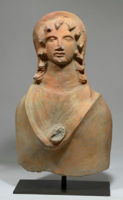 Etruscan Terracotta Votive Bust of a Male Youth