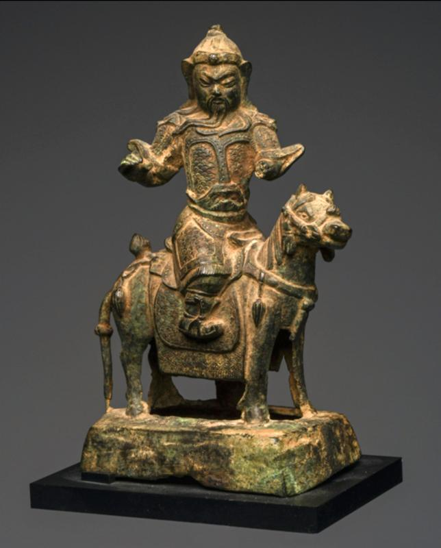 FIne Chinese Bronze Horse and Rider