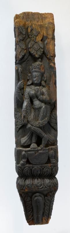 Nepalese Carved Wooden Relief Panel