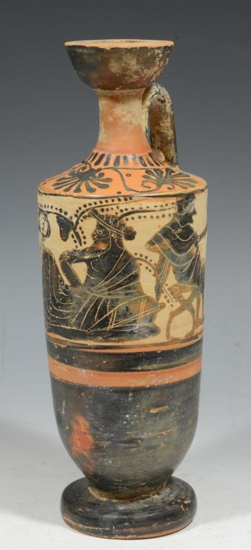 Attic Black-Figure White Ground Lekythos with Dionysos