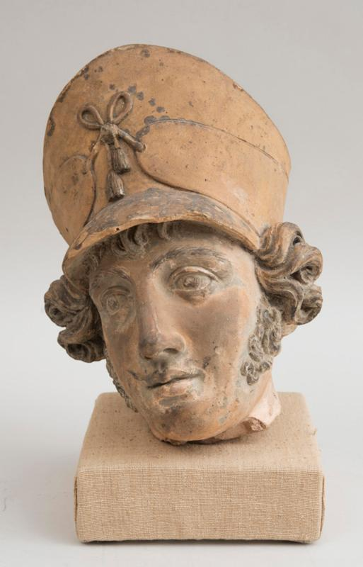 Antique French Terracota Head of A Soldier
