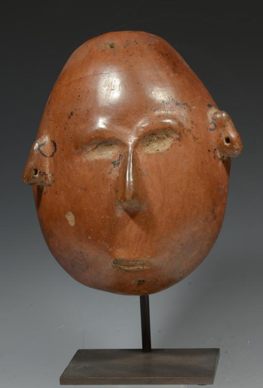 Colima Pottery Round Face Mask