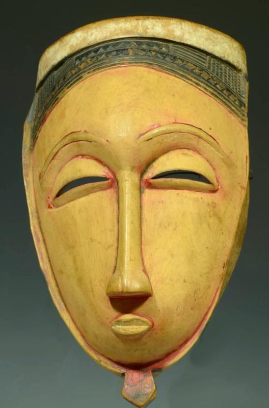 Guro Yaure Wood Carved Face Mask