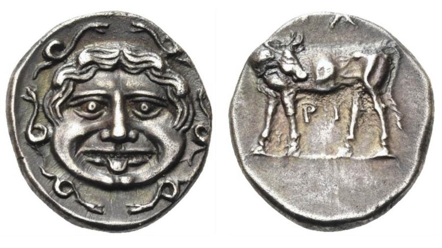 Greek Silver Hemidrachm for Mysia Parion