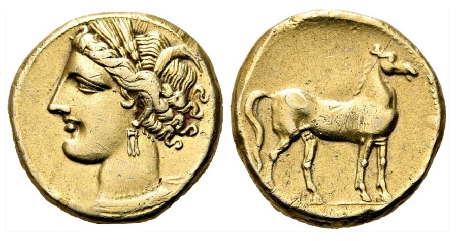 Greek Electrum Stater of Carthage