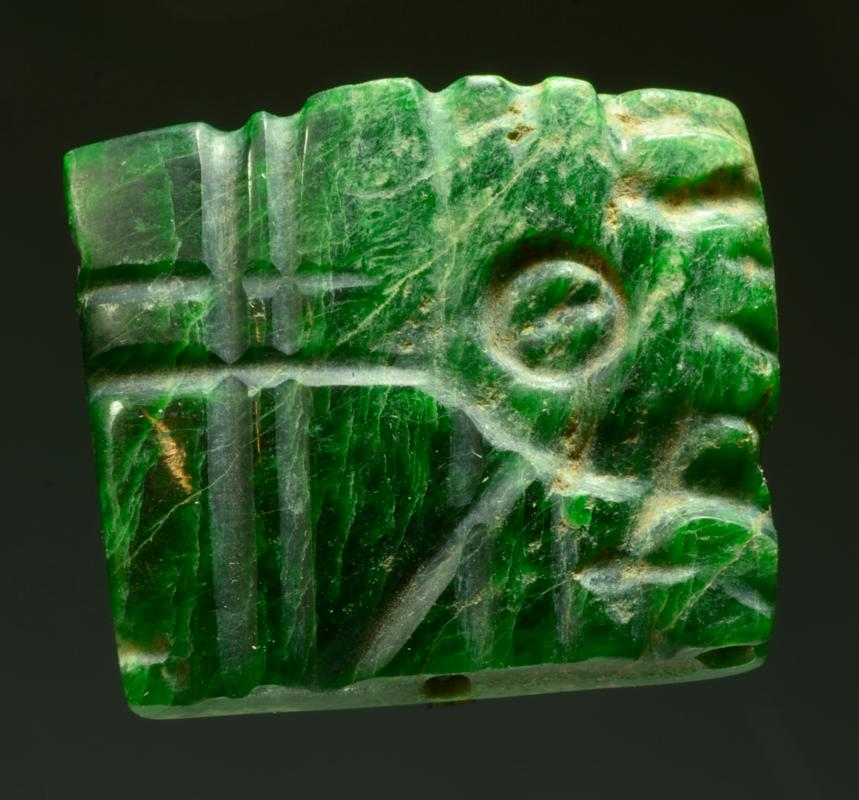 Maya Jade Bird Carved Plaque