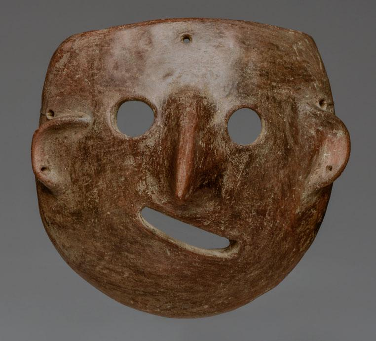 Colima Pottery Abstract Face Mask