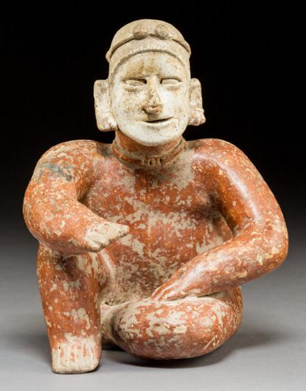 Fine Jalisco Pottery Male Seated Figure