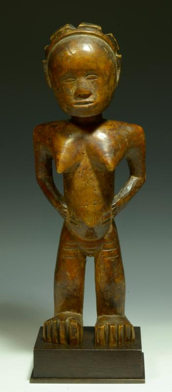 African Luba Wood Carved Figure