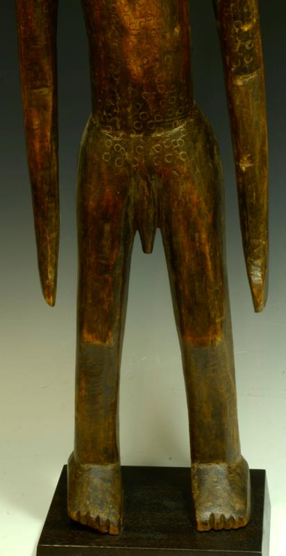African Bamana Large Wood Male Figure