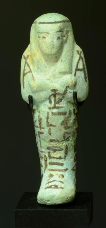 Egyptian Faience Shabti for Hor, Priest of Amun