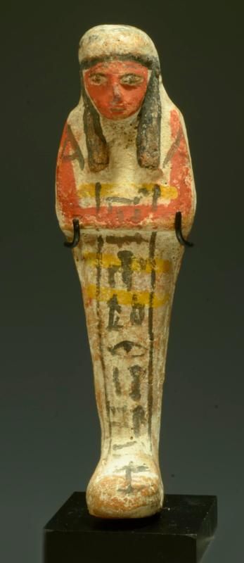 Egyptian Pottery Polychrome Ushabti for Wah-Smen