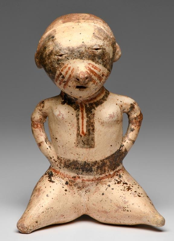 Chinesca Type C  Seated Polychrome Female