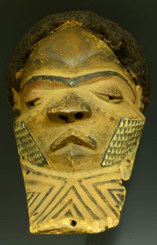 Pende Wood Carved Abstract Mask
