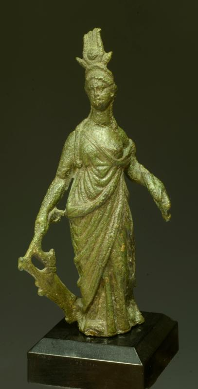 Romano-Egyptian Bronze Isis-Fortuna