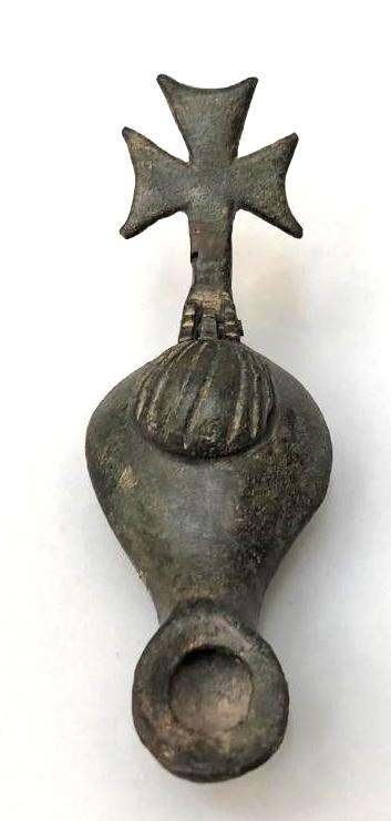 Byzantine Bronze Oil Lamp
