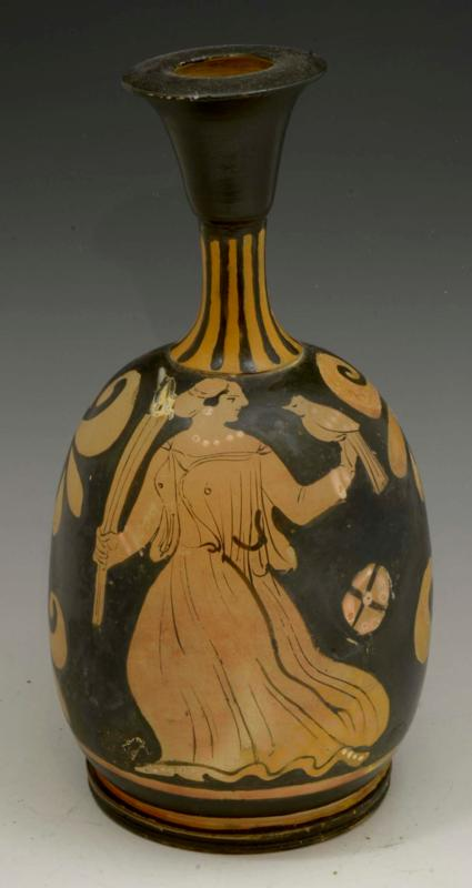 Apulian Red Figure Squat Lekythos