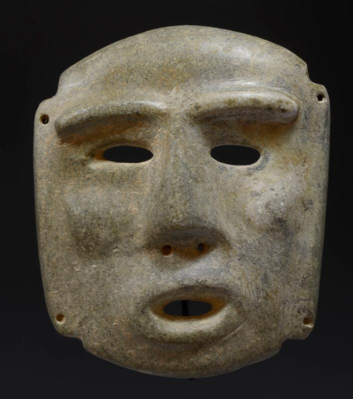 Pre Columbian Chontal Stone Face Panel