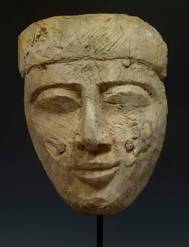 Ancient Egyptian Mummy Wood Mask