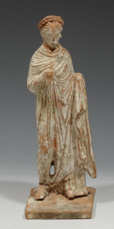 Greek Tanagra Terracotta Draped Female