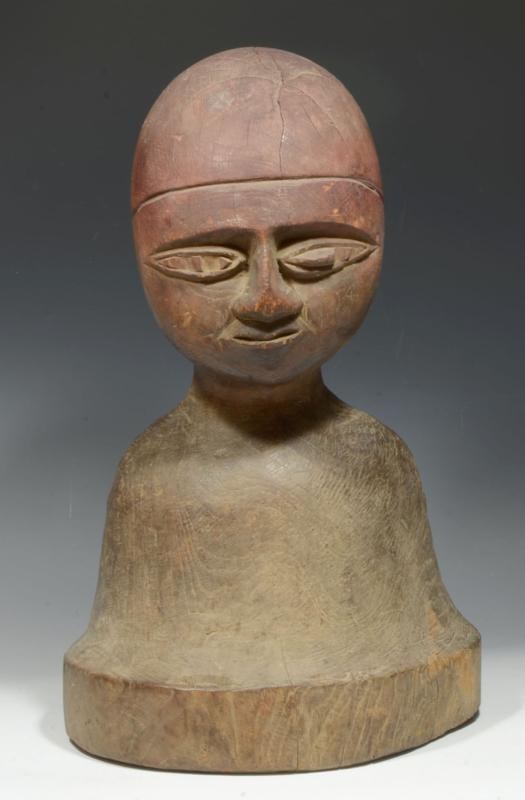 Lobi Wood Carved Bust