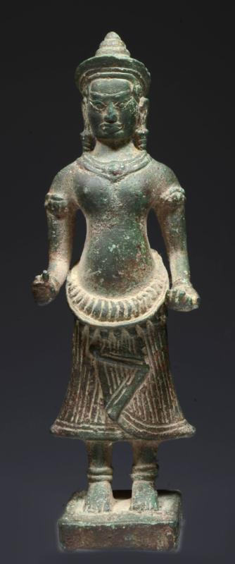 Khmer Bronze Figure of the Goddess Uma
