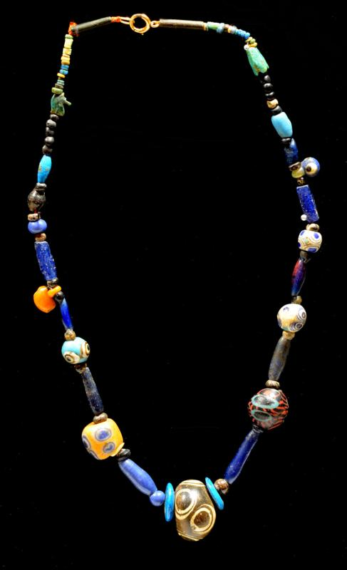Ancient  Glass Eye Bead  Necklace